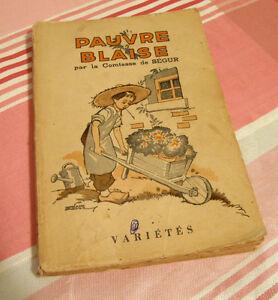 Ancien livre Pauvre Blaise de la Comtesse de Ségur