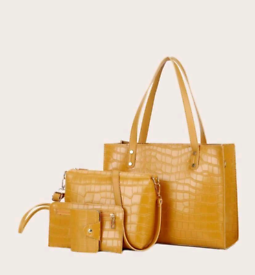 4 pieces Croc Embossed Bag Set £35 + postage choice of 8 colours