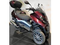 2008 08 PIAGGIO MP3 125 LEARNER LEGAL 3 WHEELER RED PROJECT/TRADE SALE SPARES