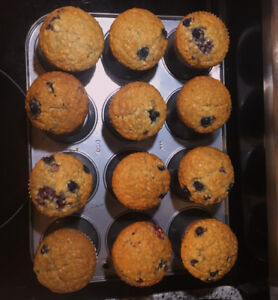 Gluten free and Vegan muffins with organic ingredients