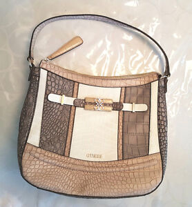 NWOT GUESS purse taupe multi