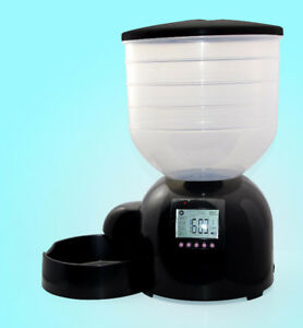 Pet Food Automatic Feeder Dispenser 1/4 to 5 cups per meal