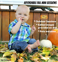 Affordable Fall Mini Sessions