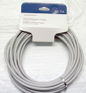 INSIGNIA 25-FEET CAT-6 NETWORK CABLE (GRAY) - NS-PNW5625-C