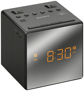 Sony AM/FM Dual Alarm Clock Radio (ICF-C1T) - Black