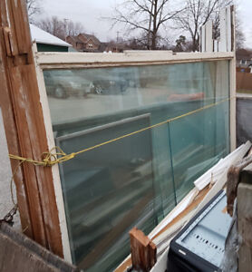 3 very large thermal pane windows for sale