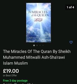 Miracles of the Quran Sheik Muhammed Mitwali Islamic Book Muslim