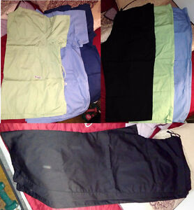 Lot of scrubs size 3x, fits more like 2x
