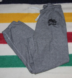 ROOTS SWEATPANTS GREY SPECKLE SIZE MEN'S SMALL