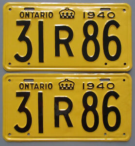 Vintage YOM License Plates - Ministry Approval Guaranteed! Peterborough Peterborough Area image 7
