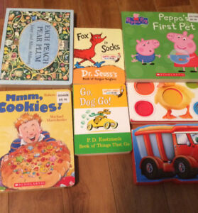 FS: Toddler books + wooden puzzle