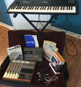 Clavier Yamaha SY55 vintage et accessoires production audio