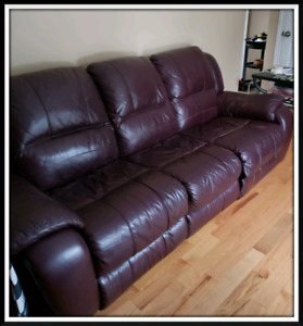 Couch and matching Chair (3 recliners)