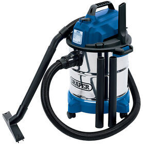 Wet-and-Dry-Vacuum-Vac-Cleaner-Industrial-20ltr-1250w-230v-Draper-Stainles-Steel