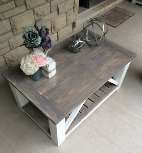 Rustic Country Chic Coffee tables with matching side tables Belleville Belleville Area image 1
