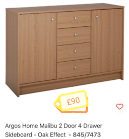 Large 2 Door 4 Drawer Side Board Storage only £85. Real Bargains Clea9