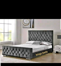 🛍Brand New Crushed Velvet Beds and Mattresses. Available seperatley