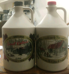 2 Empty One Gallon (4L) Maple Syrup Jugs - plastic
