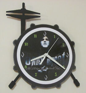 Horloge artisanale modifiable batterie bass drum et hi hat