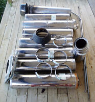 FURNACE PIPE - INSULATED STAINLESS STEELE