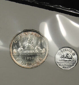 1952 Canada Mint Condition Silver Coin Set