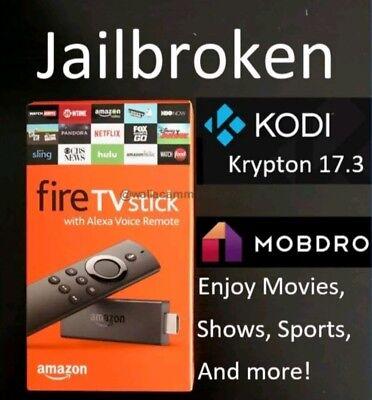 Amazon Fire TV Stick w/ Alexa Voice Remote - 2nd Gen Quad Core - Tv Addons 17.3