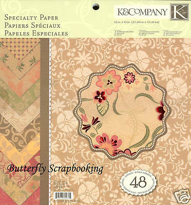Paper Company Tree (Olive Tree Collection Scrapbooking 12X12 Paper Pad 48 Sheets K&Company NEW )