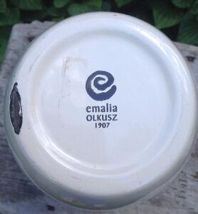 Emalia Olkusz 1907 Poland Enamel Ware Milk Pitcher Peterborough Peterborough Area image 2