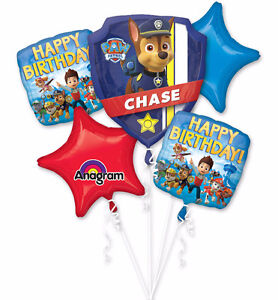Paw Patrol and Bubble Guppies Balloon Bouquets with Helium SALE