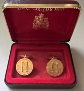 Royal Canadian Mint /Boutons de manchette /Cufflinks /Collectors