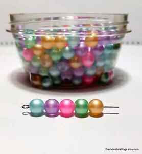 300 8mm glass beads with storage container