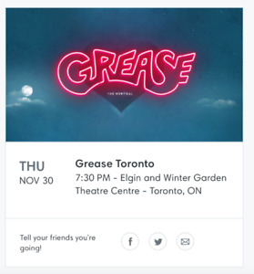 GREASE The Musical in Toronto