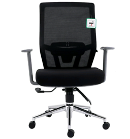 Premium Mesh Medium Back Chrome Base Ergonomic Office Chair