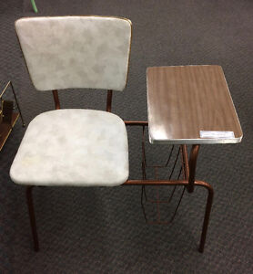 Vintage Mid-Century Telephone Table with attached seat