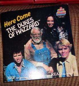 Dukes Hazzard Charger Pull Back & Dukes 45 Rpm Vinyl Record