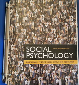 Social psychology aronson kijiji in ontario buy sell save social psychology sixth canadian edition loose leaf textbook fandeluxe Gallery