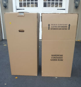 2 Used Wardrobe Boxes for Sale