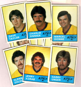 1980 Los Angeles Kings 14-card team set with Marcel Dionne