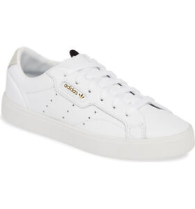 Brand New Adidas Originals WHITE SLEEK Shoes Women Size 6.5 , 7