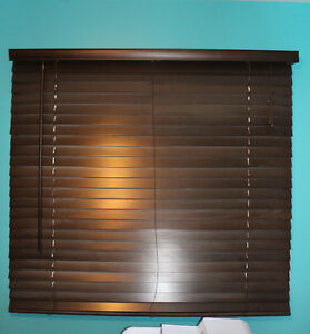 Venetian Faux Wood Blinds/ Horizontal /Store Vénitien Similibois