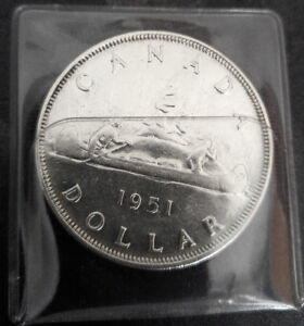 1951 CANADIAN SILVER DOLLARS - Like New