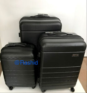 New black Expandable TSA luggage set suitcases Luggage set de 3