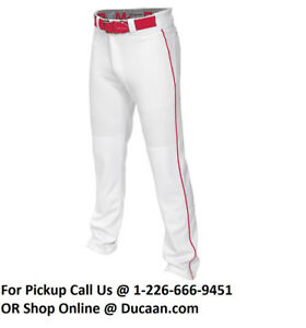 NEW Easton Mako 2 Piped Pant Youth White/Red Large A167109WHRDL