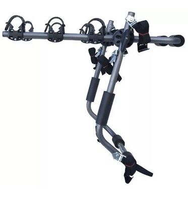 Sparehand Trunk Mounted 3 Bike Car Rack for All Frame Types Rust Resistant Grey