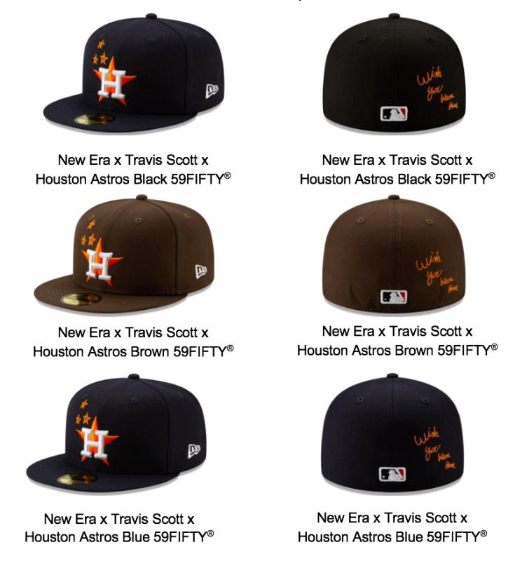 2362143baed7e New Era x Travis Scott x Houston Astros Navy Hat 3 sizes