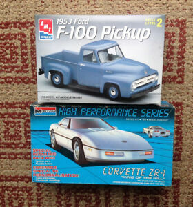 Model Car and Truck kits 1/25 scale pair