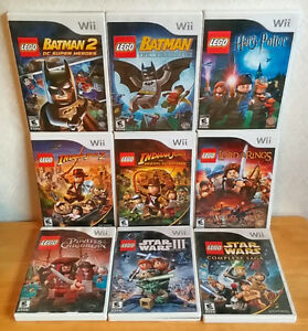9 GREAT Lego Games for Nintendo Wii.