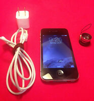 LIKE NEW Iphone 4S 16gb Rogers ChatR Comme Neuf + Magnetic Lens