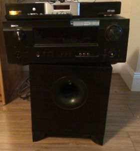 Home Theatre power Center, master board and woofer speaker