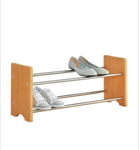 Two-Tiered Expandable Shoe Rack